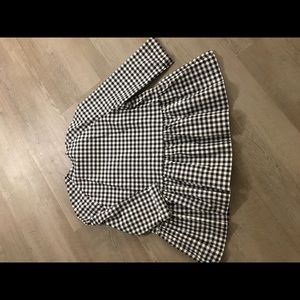 Victoria Beckham for Target Tops - Black and White Gingham Peplum